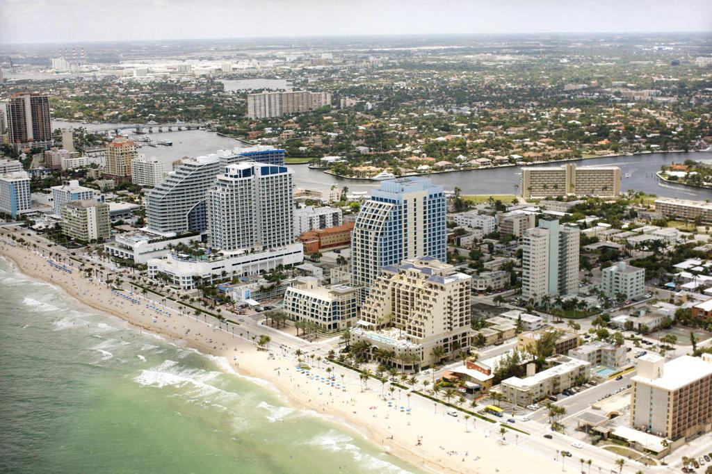 Beachfront, North Beach, Florida : Stock Photo