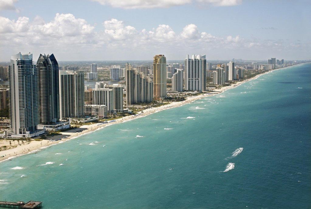 Miami Beach Coast, Florida : Stock Photo