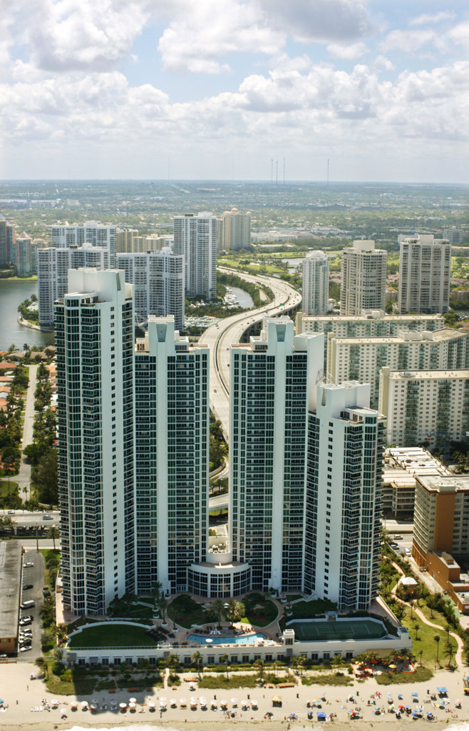 Stock Photo: 4030-6596 Miami Beach Coast, Florida
