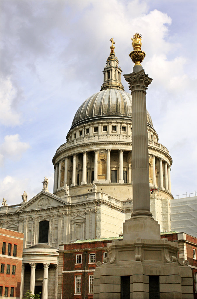 Stock Photo: 4030-6683 St Paul's Cathedral, London