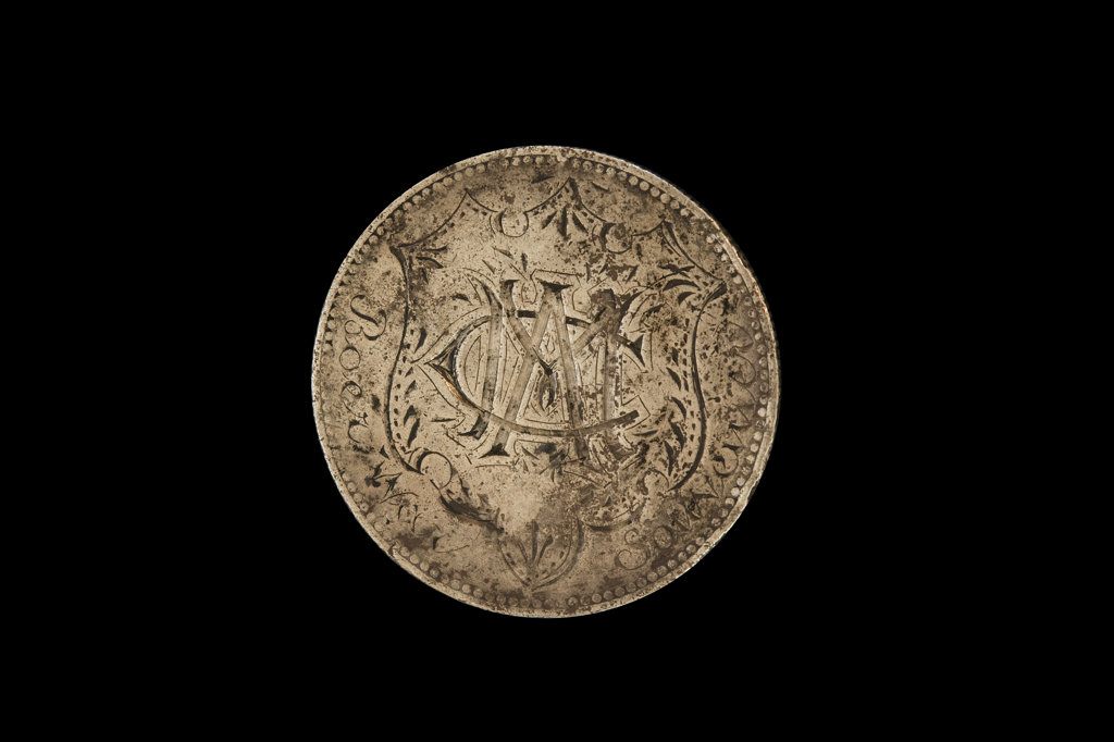 South African Coin defaced by Anglo-Boer War POW's : Stock Photo