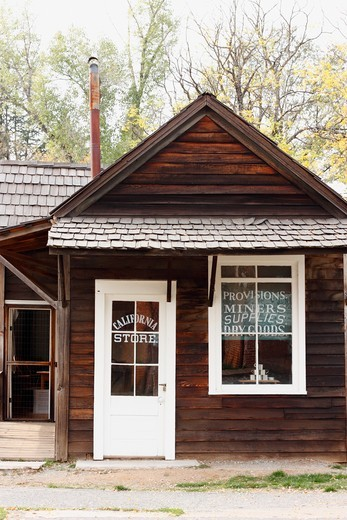 Stock Photo: 4031-194B Facade of a store, California Store, Columbia State Historic Park, Columbia, Tuolumne County, California, USA