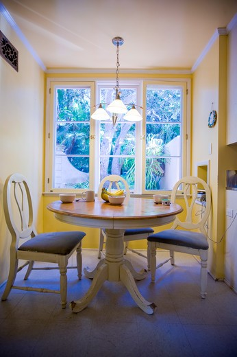 Interiors of a breakfast room : Stock Photo