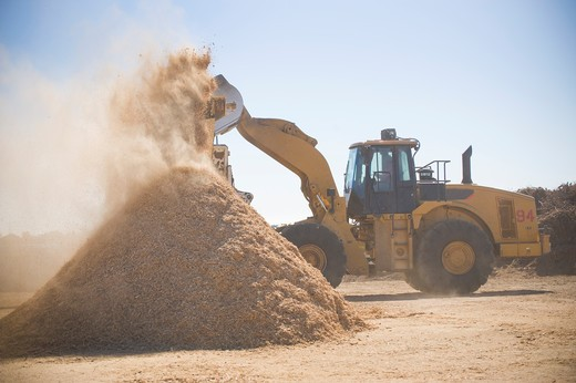 Stock Photo: 4033-416 Wood products being processed into wood chips