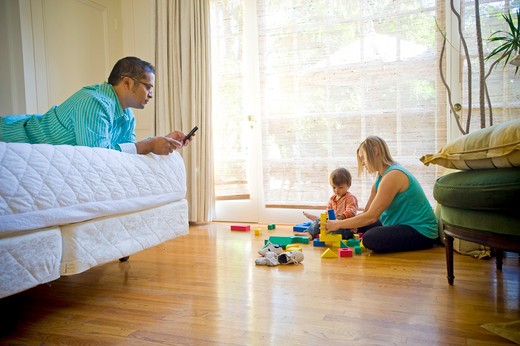 Stock Photo: 4033-421B Family at home