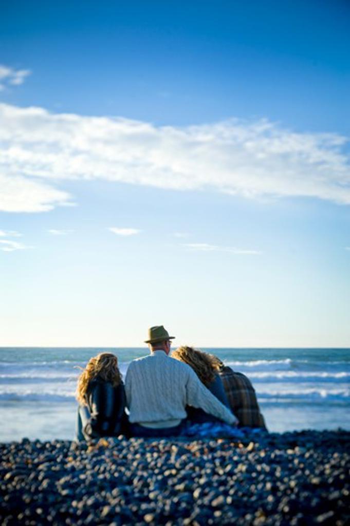 Family on the beach : Stock Photo