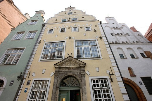House of three brothers, Riga Historic district, Riga, Latvia, Europe, World Heritage : Stock Photo