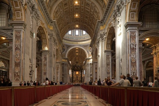 Stock Photo: 4034-102680 Basilica di San Pietro, Vatican, Europe, World Heritage