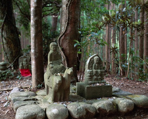 Hashiori Peak, Buddhist ascetic image, Wakayama, Japan : Stock Photo