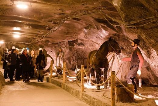 Wieliczka Salt Mine, tunnel, Wieliczka, Poland, Europe, World Heritage : Stock Photo