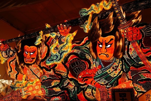 Stock Photo: 4034-103107 Aomori Nebuta festival, Aomori, Aomori, Tohoku, Japan