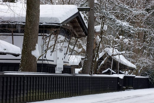 Winter, snow, samurai residence, Senboku, Kakunodate, Aktia, Tohoku, Japan : Stock Photo