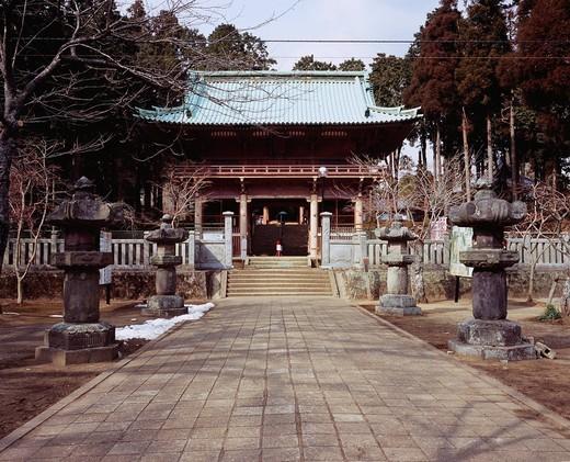 Caminoge, main gate of a Buddhist temple, compound sentence, buddhist temple, Kimitsu, Chiba, Kanto, Japan : Stock Photo