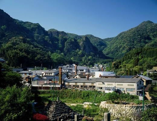 Stock Photo: 4034-104842 Imari ware, pottery, foreigner grave, Imari, Saga, Kyushu, Japan