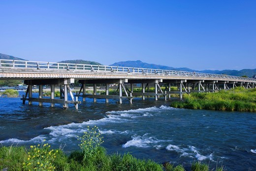 Togetsukyo Bridge, Kyoto, Kyoto, Kinki, Japan : Stock Photo