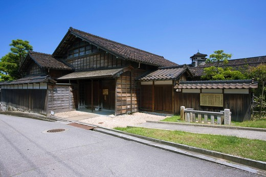 Fushiki Kitamae ship materials pavilion, Old Akimoto family, Watchtower, Takaoka, Toyama, Hokuriku, Japan : Stock Photo