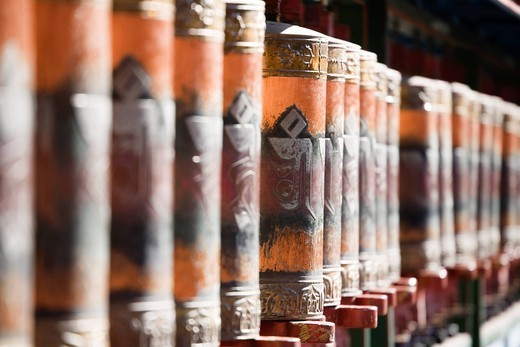Outlying Temples, Puning temple, prayer wheel, buddhist temple, Chengde, China, Asia, World Heritage : Stock Photo