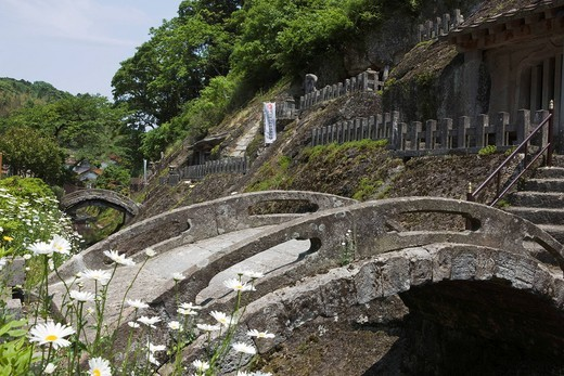 Stock Photo: 4034-108316 Rakan temple, Iwami Ginzan Silver Mine, Oda, Shimane, San_In, Japan, World Heritage