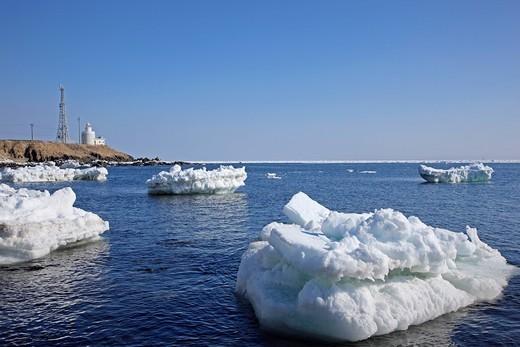 Stock Photo: 4034-108850 Nosappu cape, drift ice, Nemuro, Hokkaido, Japan