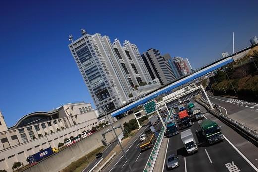 Odaiba, expressway, Tokyo, Kanto, Japan : Stock Photo