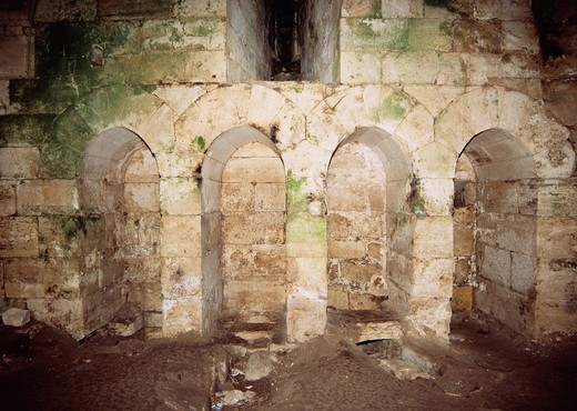 Prayer Room, Crac des Chevaliers, Syria, Middle East : Stock Photo