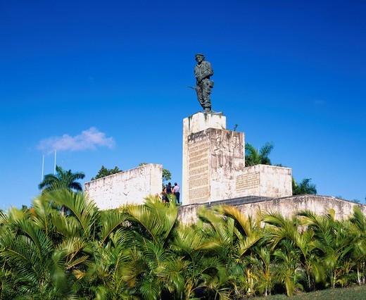 Stock Photo: 4034-109827 Ernesto Che Guevara mausoleum, Che Guevara mausoleum, Ernesto Che Guevara statue, monument, Che Guevara statue, Santa Clara, Cuba, Latin America