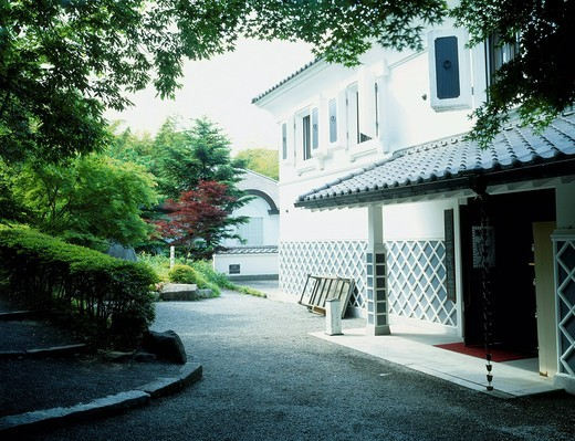 Yumeji Takehisa memorial museum, Hot spring of Ikaho, Shibukawa, Gunma, Kanto, Japan : Stock Photo
