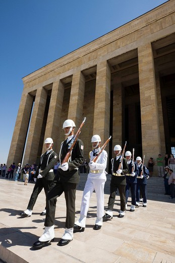Ankara, Turkey, Middle East, Ataturk mausoleum, Ataturc, An&305,tkabir, Changing Guards : Stock Photo