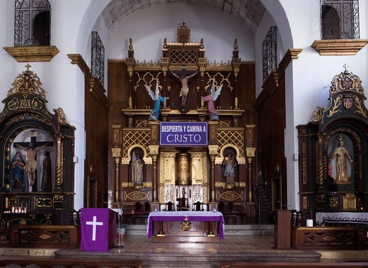 Merced Church, internal, Panama City, Panama, World Heritage, Central South America : Stock Photo