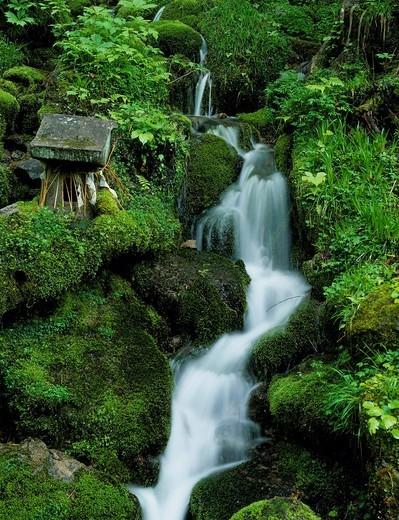 Best water, soul fountain, Showam, Fukushima, Tohoku, Japan : Stock Photo