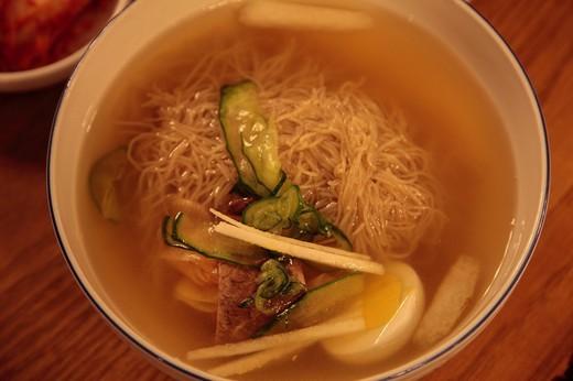 Cuisine, cold noodle, Seoul, South Korea, Asia : Stock Photo