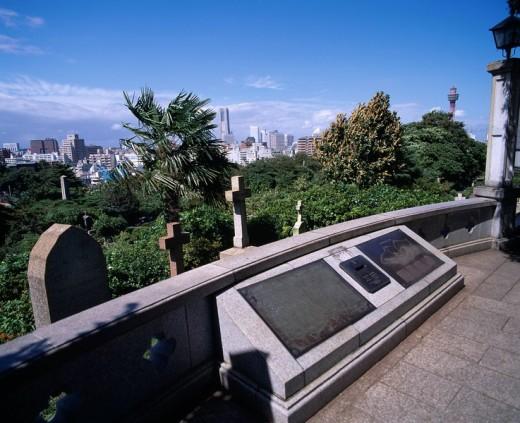 Foreigners Cemetery Yokohama Kanagawa Japan : Stock Photo