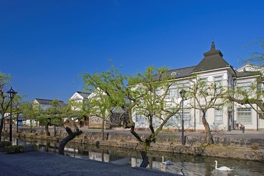Kurashiki folkcraft pavilion, Kurashiki pavilion, Kurashiki fine sight district, Important Traditional buildings preservation district, Kurashiki, Okayama, Sanyo, Japan : Stock Photo