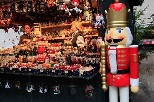 Christmas doll, Christmas market, Salzburg, Austria, Europe : Stock Photo
