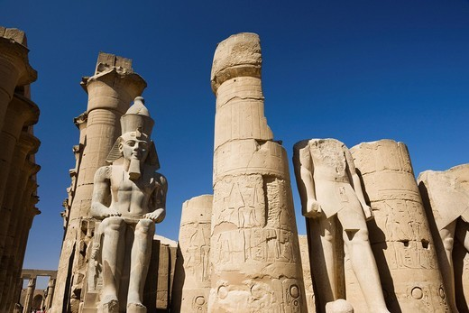 Stock Photo: 4034-117548 Luxor castle, the second tower gate, Luxor, Africa, World Heritage
