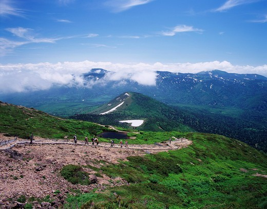 Mt. south Hakkoda, Take a picture from Odake, Aomori, Aomori, Tohoku, Japan, June : Stock Photo