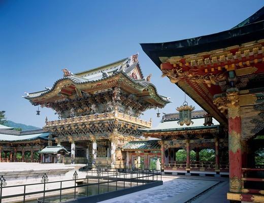 Kosan_ji temple, Koyo gate, Shimanami Kaido, Ikuchi island, Hiroshima, Japan : Stock Photo