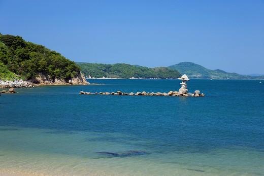 Funakakushi, Genji and Heike Historic Site, Seto Inland Sea, Aji, Takamatsu, Kagawa, Shikoku, Japan : Stock Photo