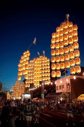 Kanto Festival, Akita, Akita, Tohoku, Japan : Stock Photo