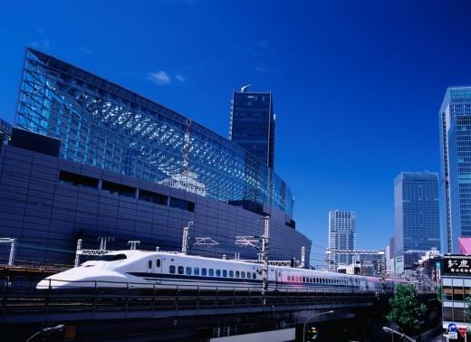 Shinkansen, Tokyo International Forum, Chiyoda Ward, Tokyo, Kanto, Japan : Stock Photo