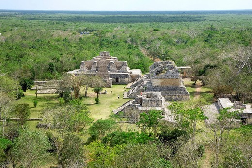 EKbalam ruins, Pyramid, Jungle, Yucatan Peninsula, Mexico, Latin America, Central South America : Stock Photo