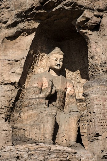 Cave 19, Yungang, Buddha statue, Datong, Shanxi, China, Asia, World Heritage : Stock Photo