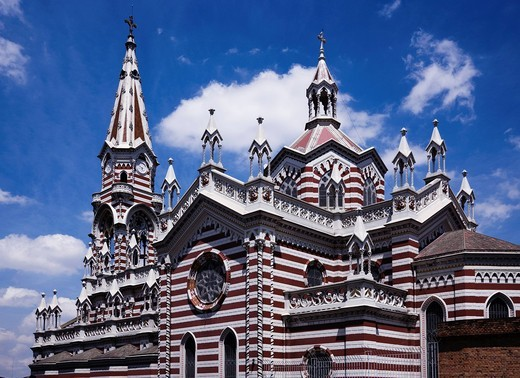 Carmen church, Bogota, Colombia, Central South America : Stock Photo