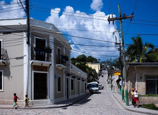 City View, Copan Ruinas, Honduras, Central South America : Stock Photo