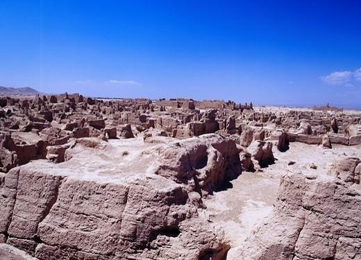 Jiaohe castle, Tulufan, Xinjiang Uygur Autonomous Region, China, Asia : Stock Photo
