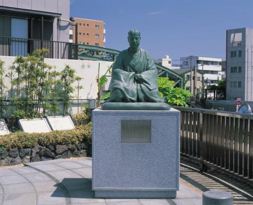 Stock Photo: 4034-17203 Bashou historic site view garden, Koto, Tokyo, Japan