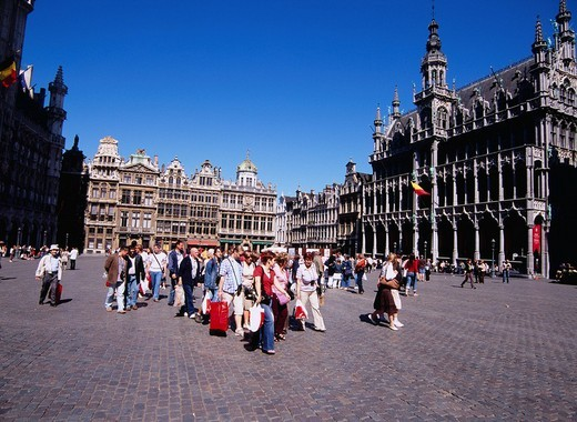 Grand Place, Brussels, Belgium, Europe, World Heritage : Stock Photo