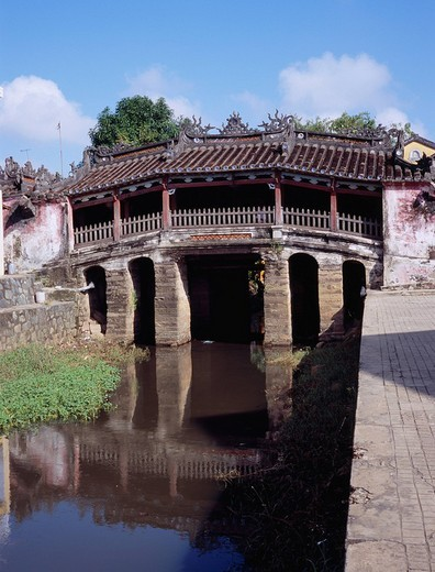 Stock Photo: 4034-18865 Cau Lai Vien, Biridge, Nihonbashi, Hoi an, Vietnam