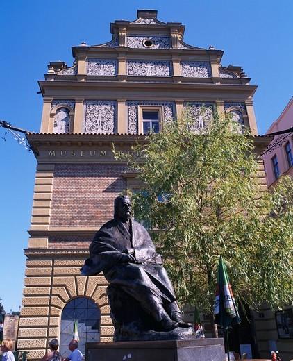 Smetana Museum, Smetana Statue, Prague, Czech : Stock Photo