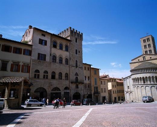 Grande Square, Arezzo, Italy : Stock Photo
